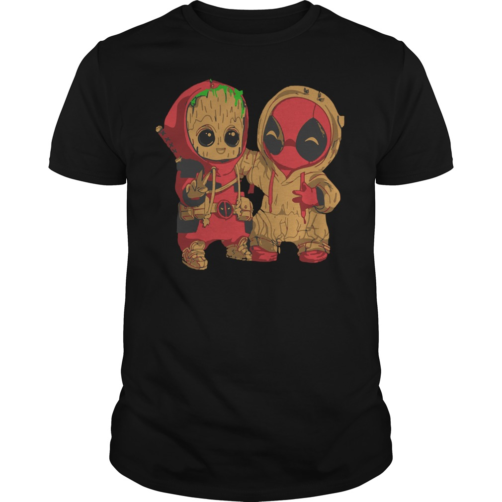 Baby Groot And Deadpool chibi shirt