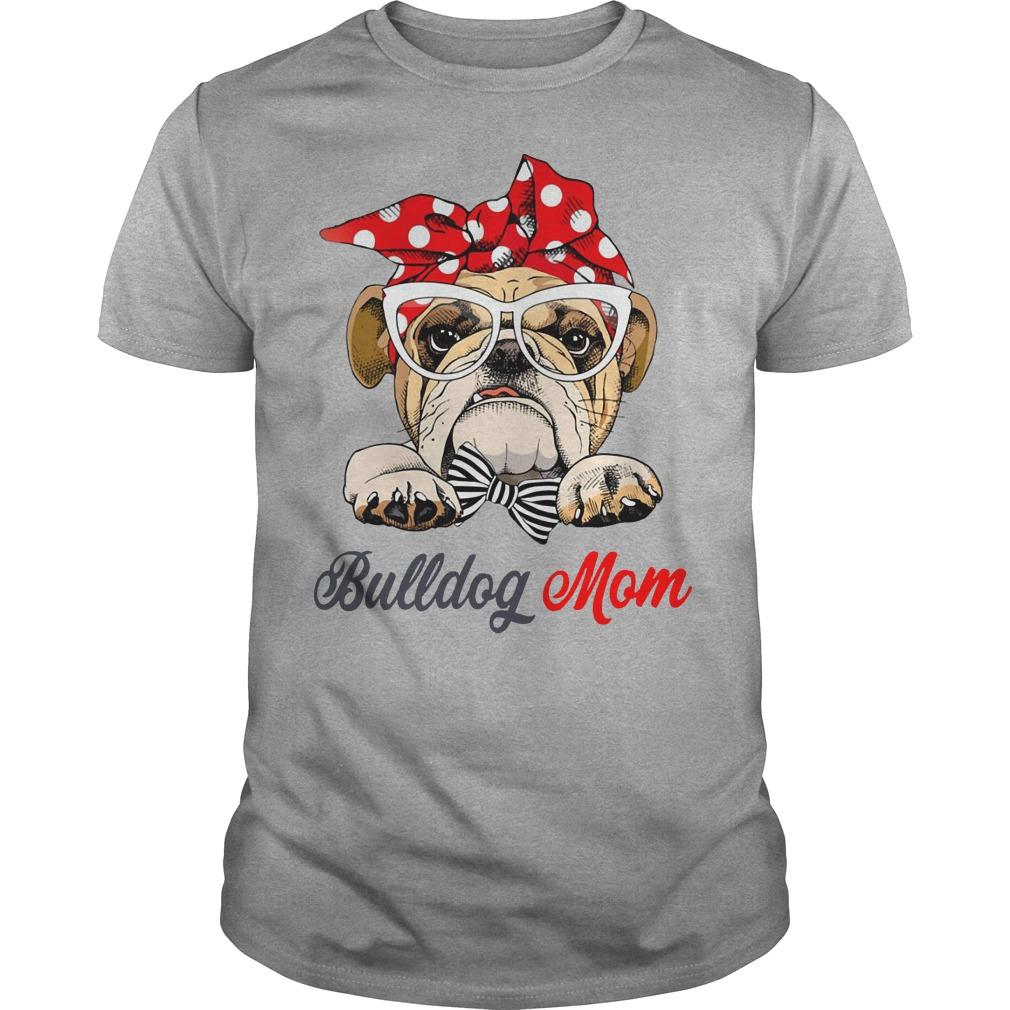 BullDog Mom leopard bandana shirt