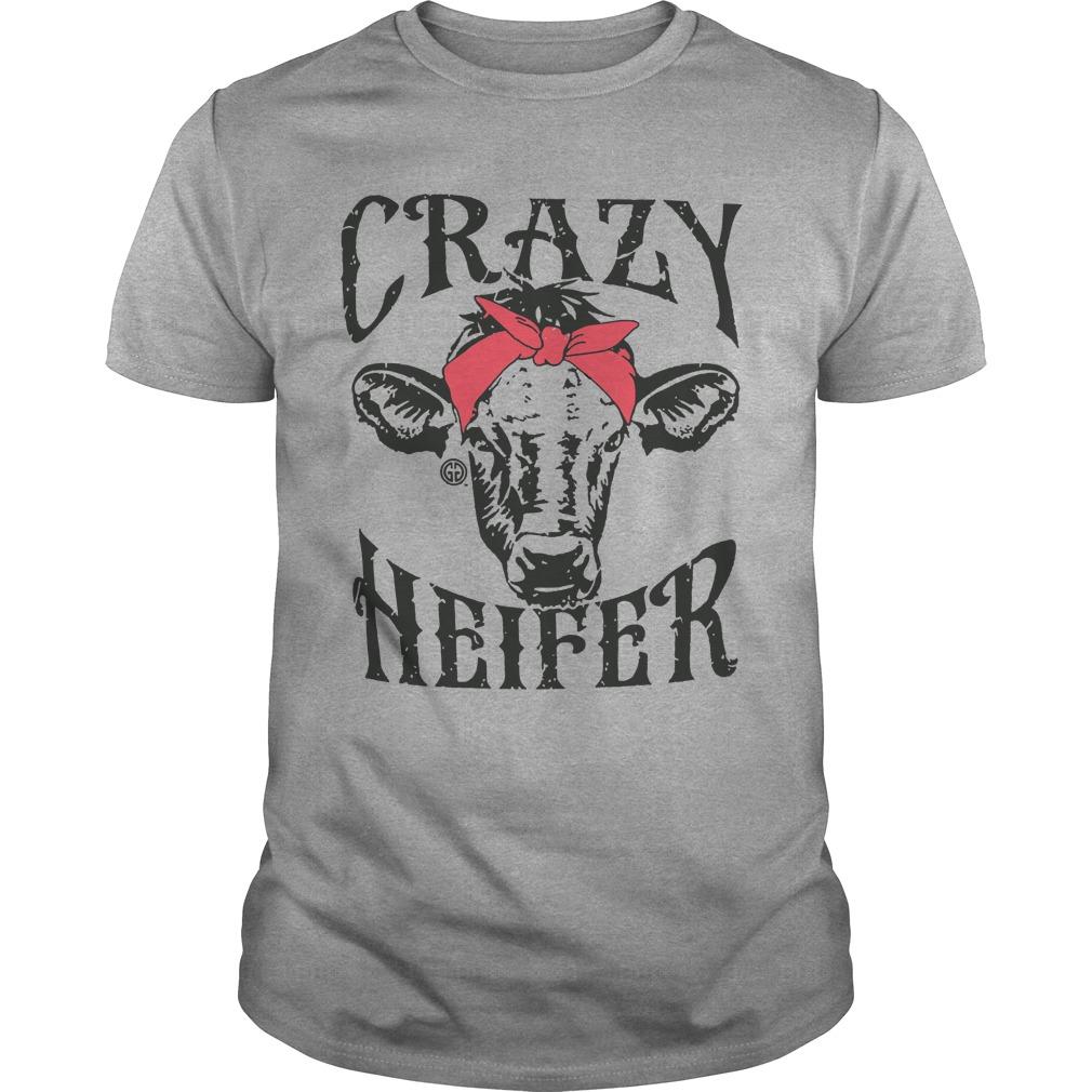 Crazy Cow Bandana heifer shirt