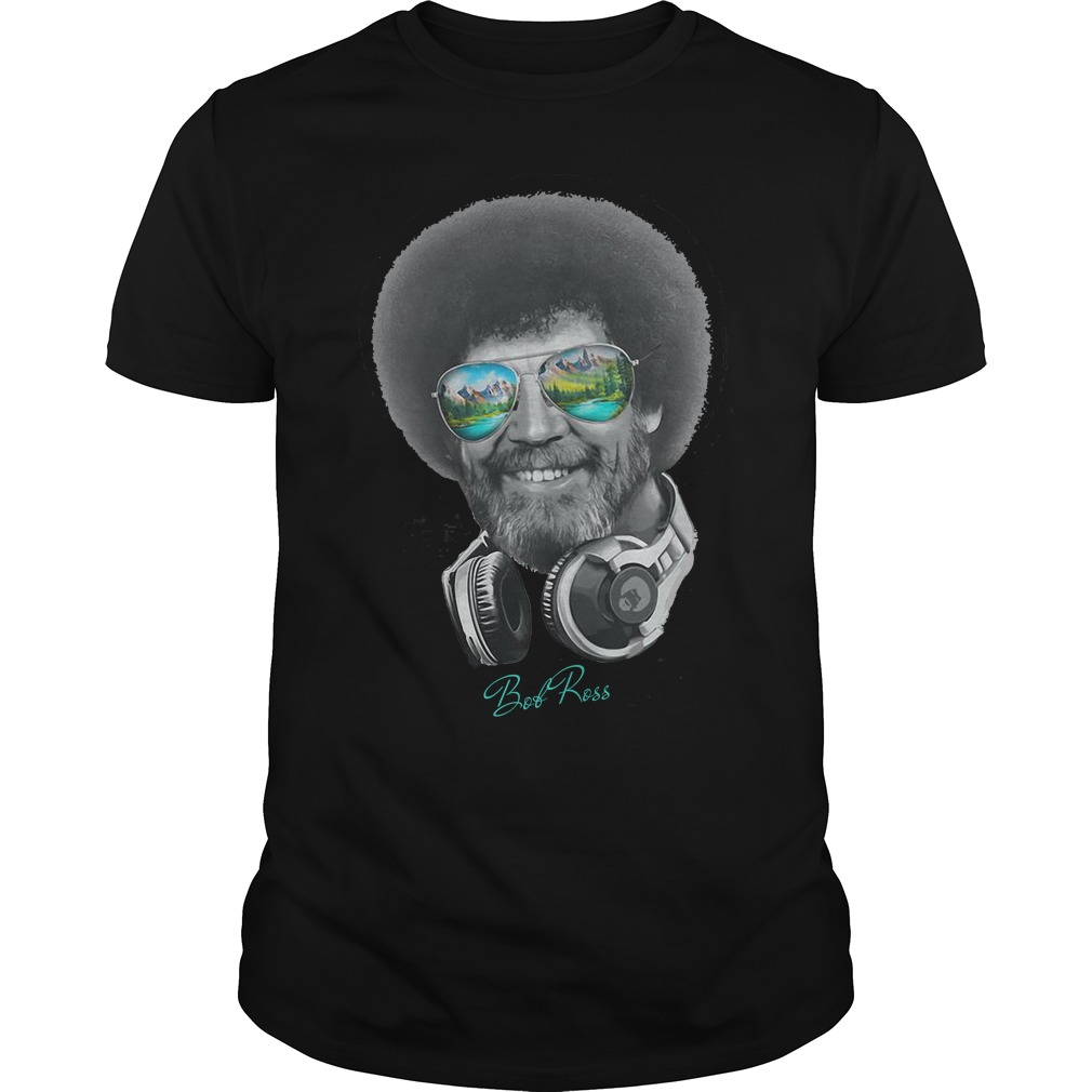 DJ Bob Ross Officially Licensed Headphone & Shades Signature Shirt