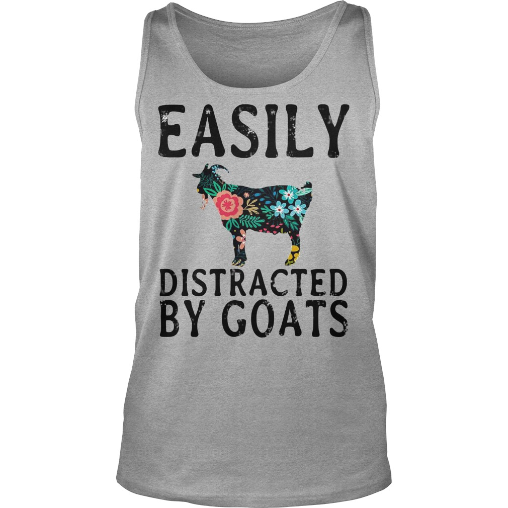 Easily Distracted By Goats tank top