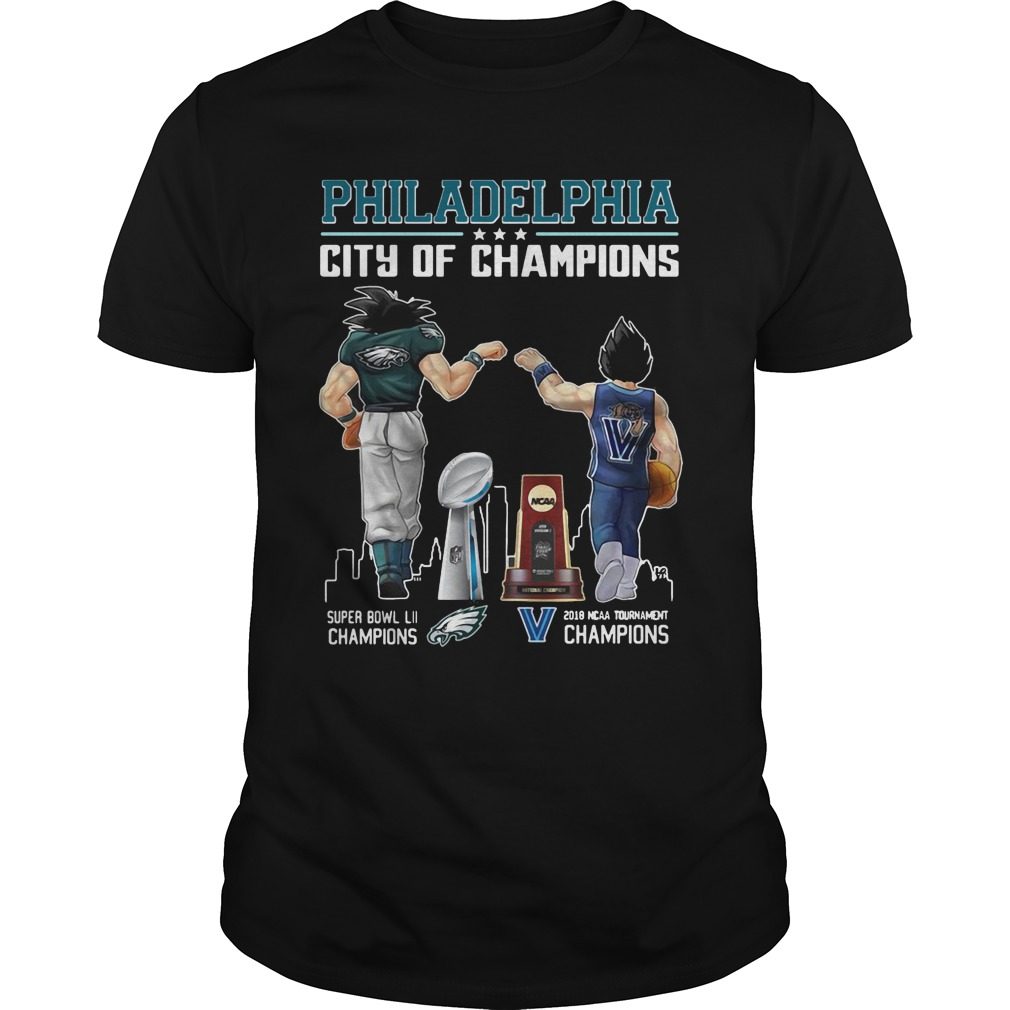 Goku and Vegeta: Philadelphia City Of Champions 2018 shirt