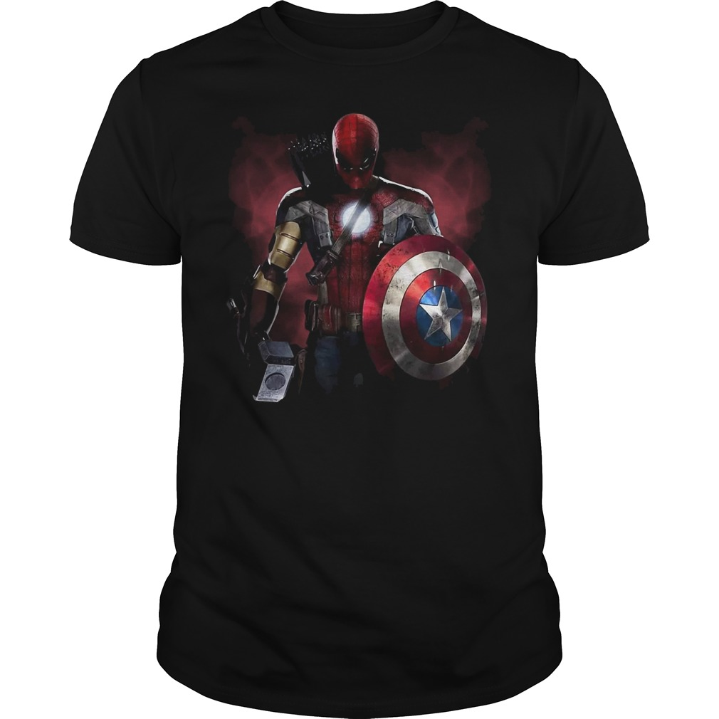 Marvel Studio: All Super Hero in one in Avengers Infinity War shirt