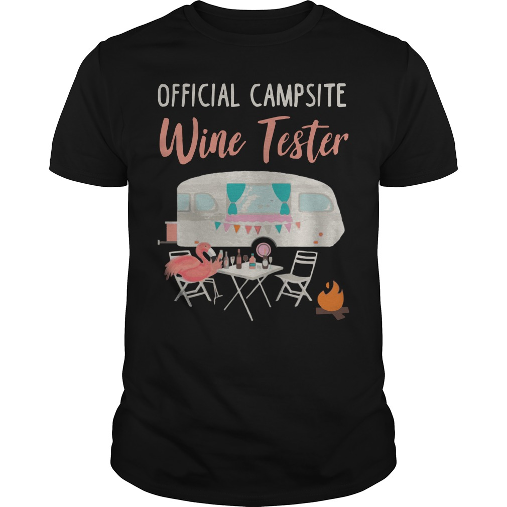 Official campsite wine tester camping shirt