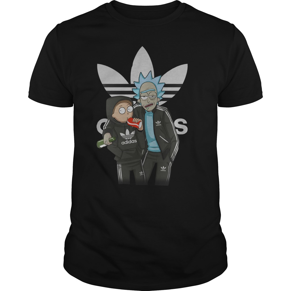 Rick and Morty Adidas sports clothing shirt