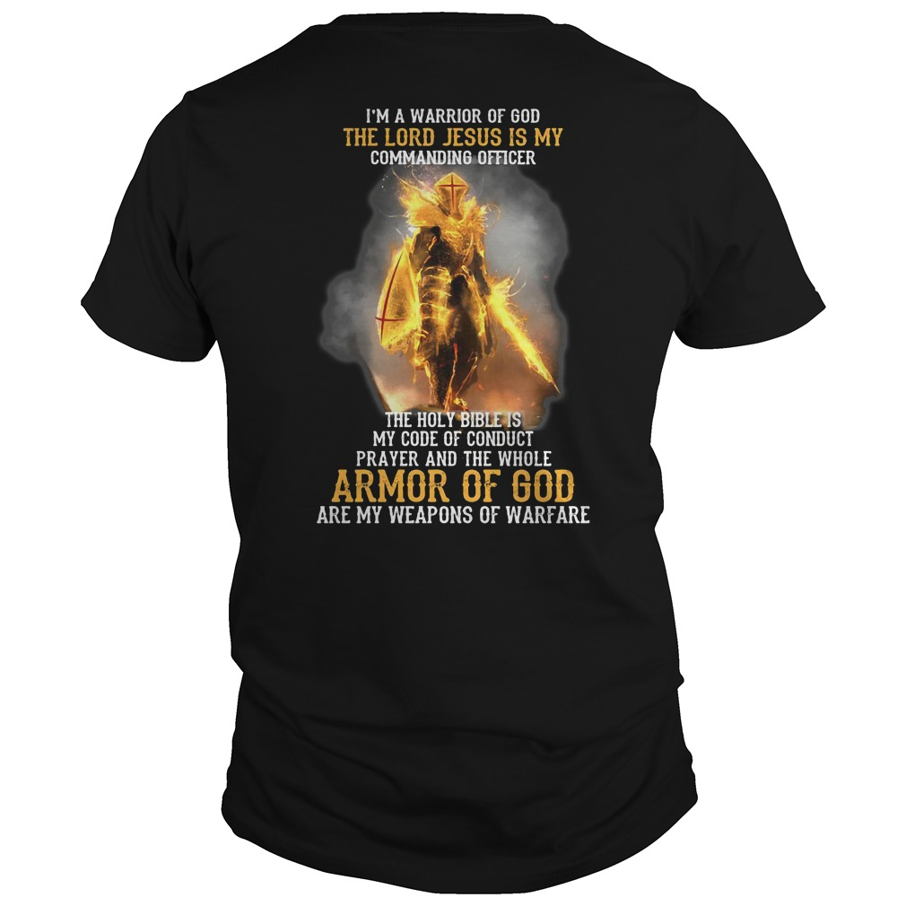 Solar Exalted characters : I'm a warrior of God the Lord Jesus is my commanding officer shirt