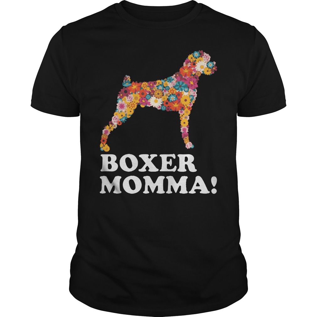 Tattoo flowers Dog boxer momma shirt