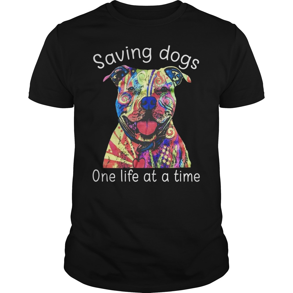 Tattoos Pitbull Saving Dogs One life at a time shirt