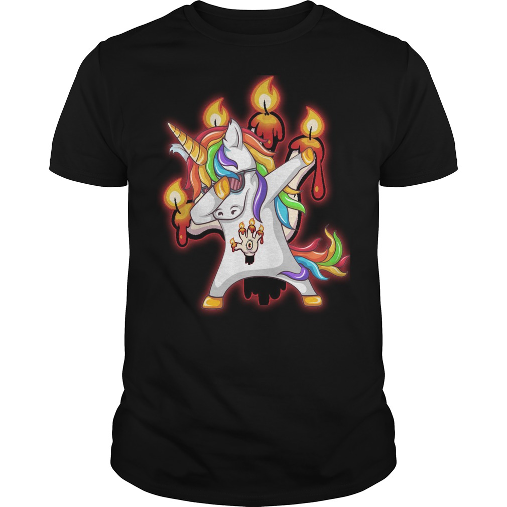 Unicorn dabbing Hand of Glory shirt