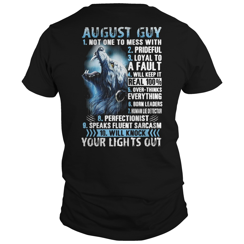 10 things about August guy wolves shirt