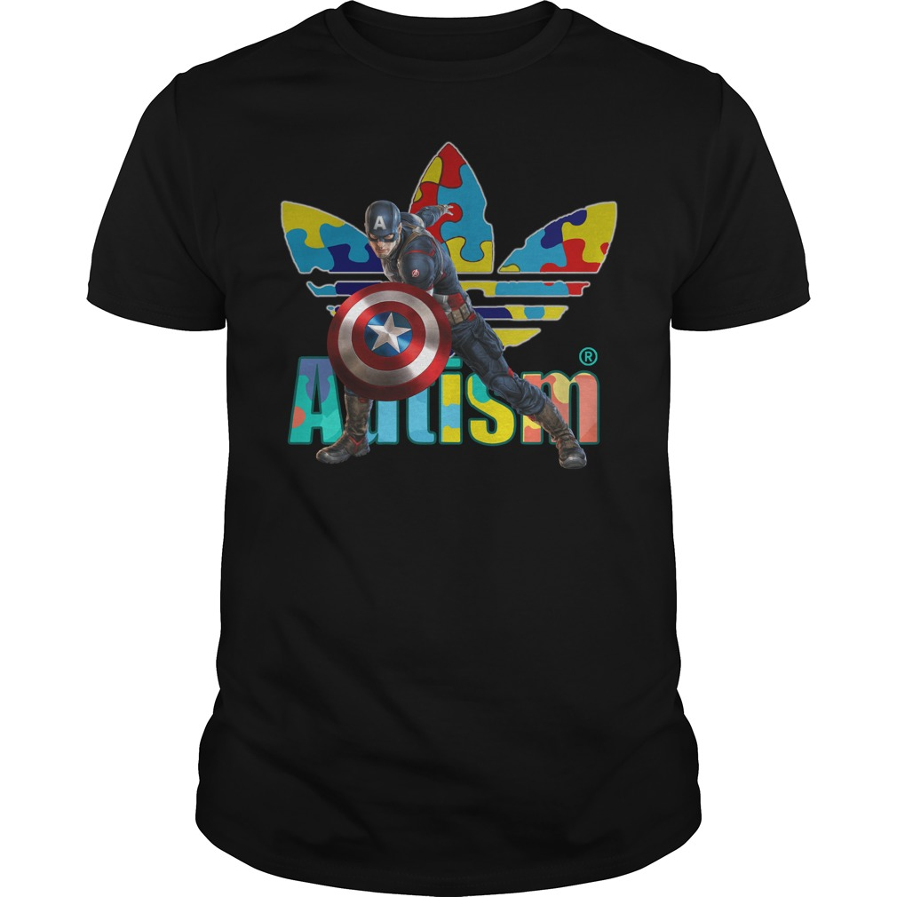 Captain America Adidas autism shirt