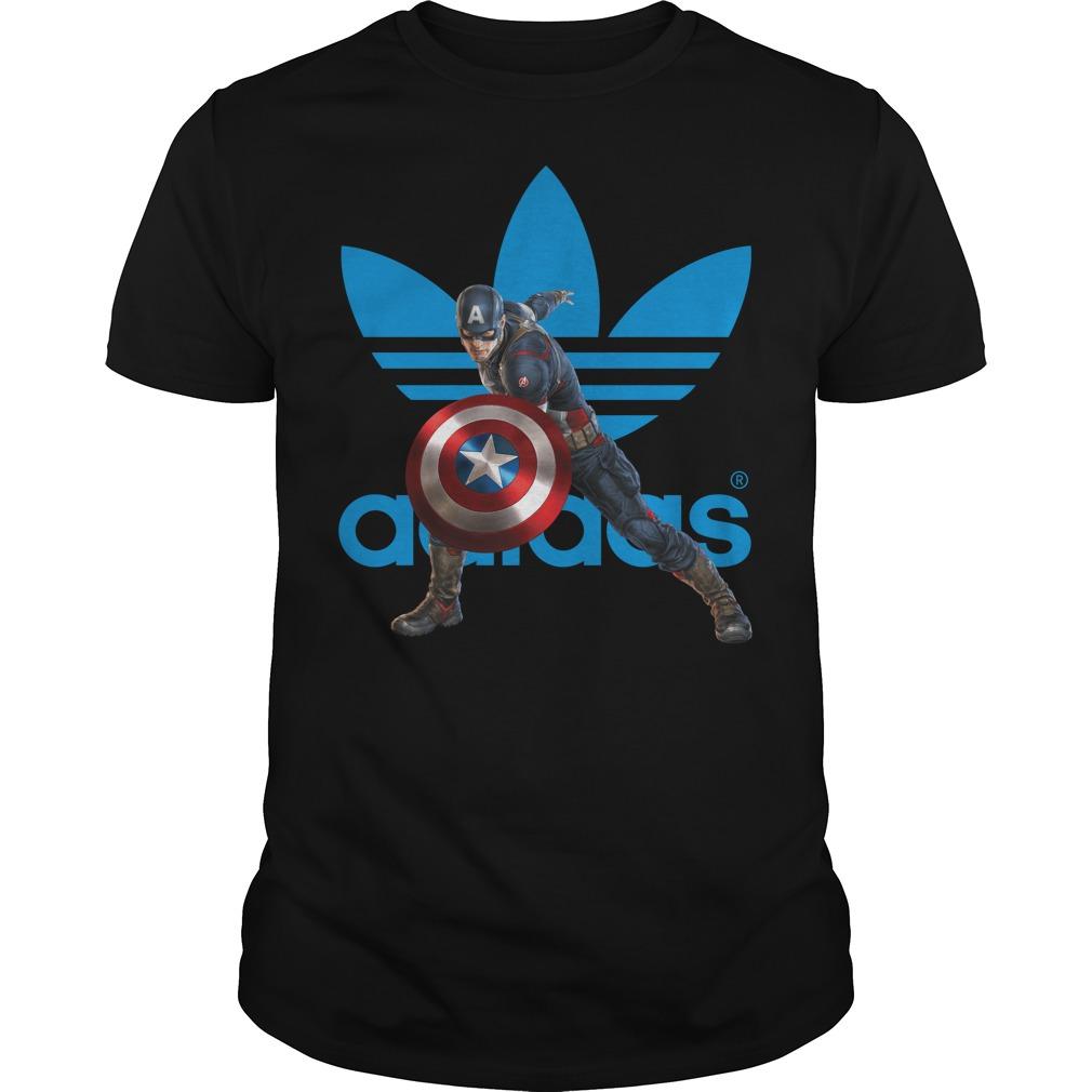 Captain America Adidas shirt