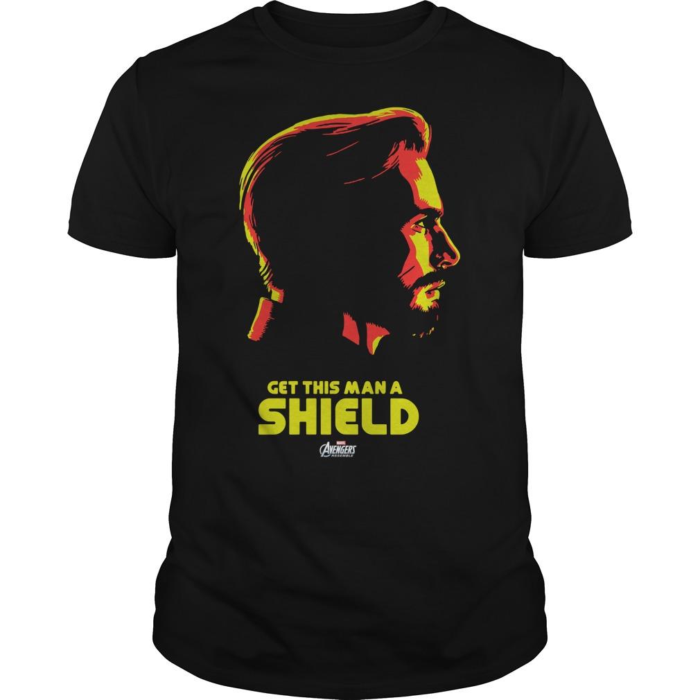 Captain America get this man a shield shirt
