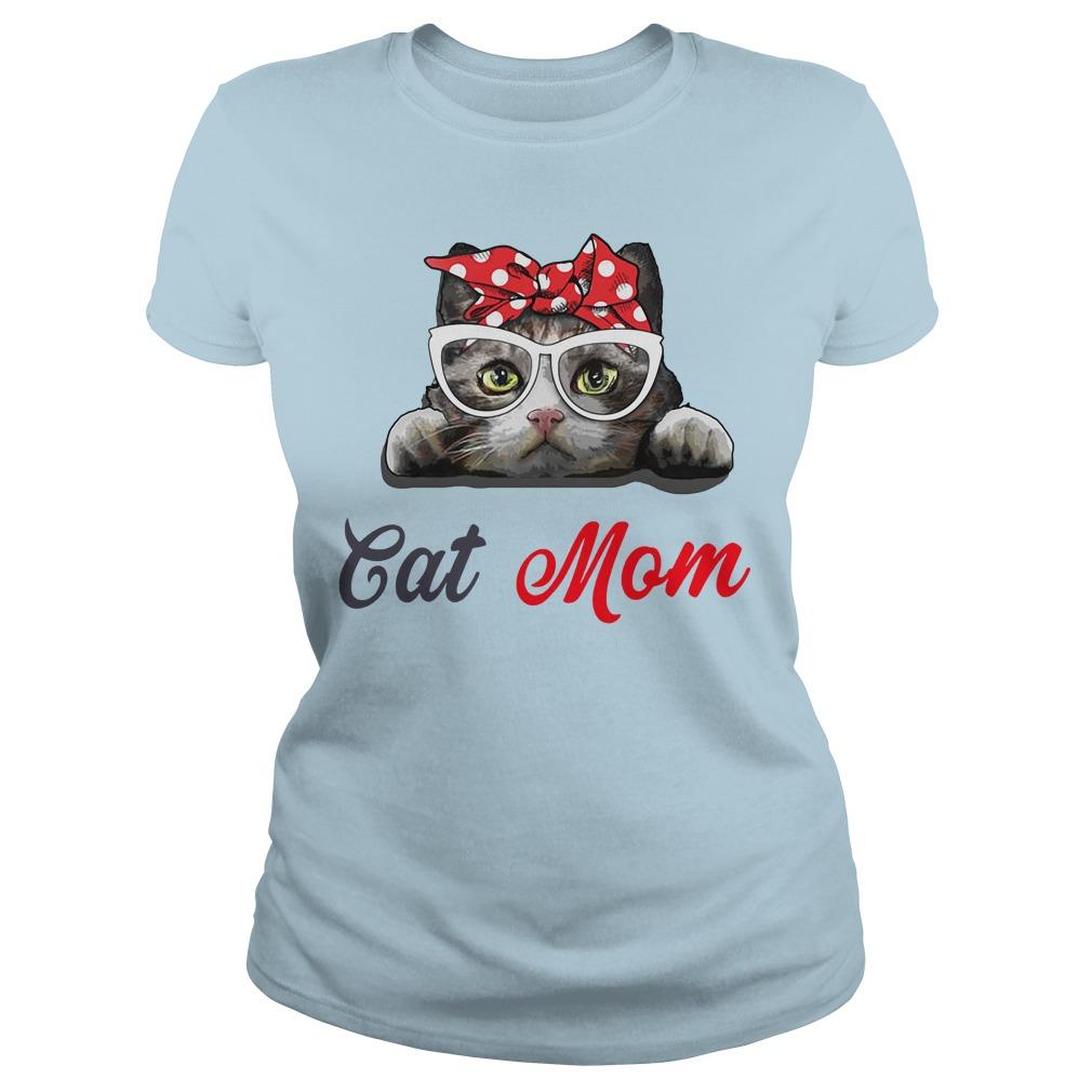 Cat mom leopard bandana shirt