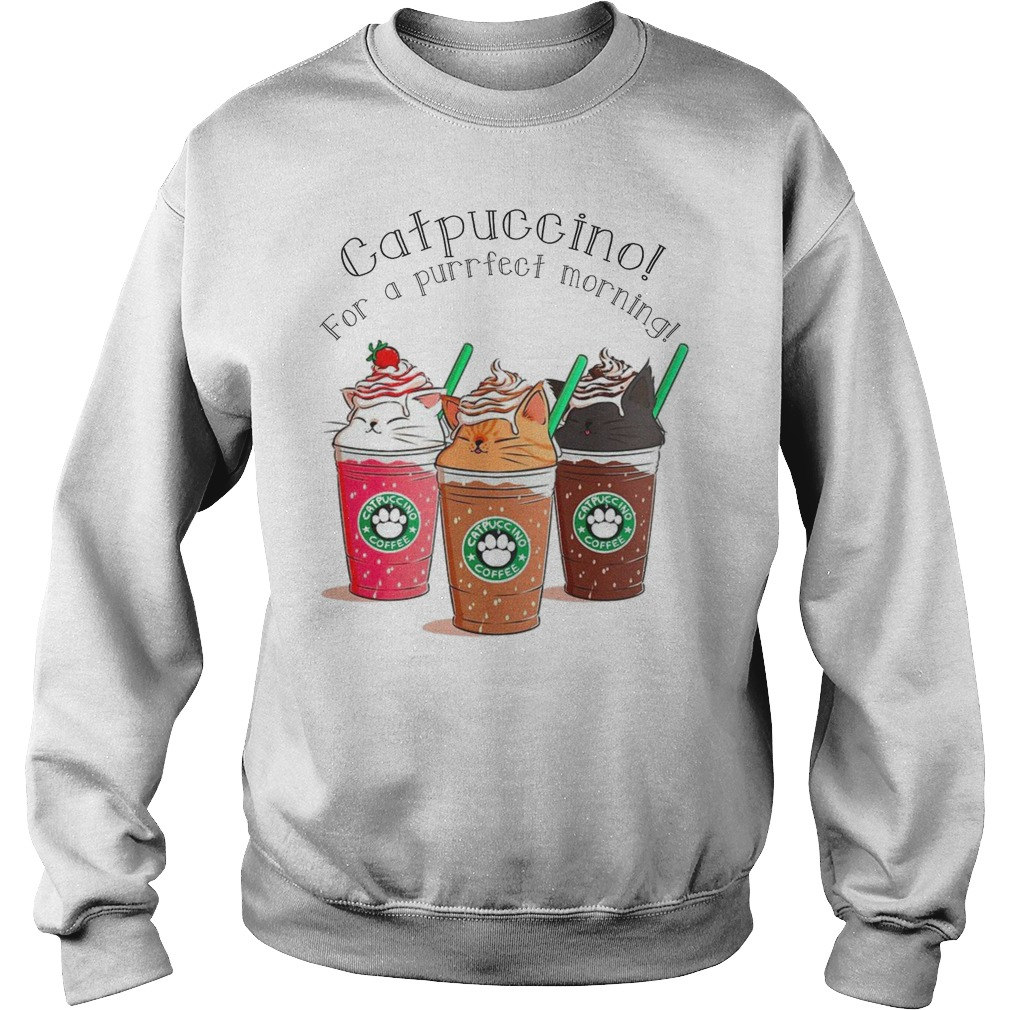 Catpuccino for a purrfect morning sweater