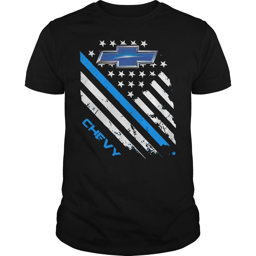 Chevrolet blue Chevy shirt