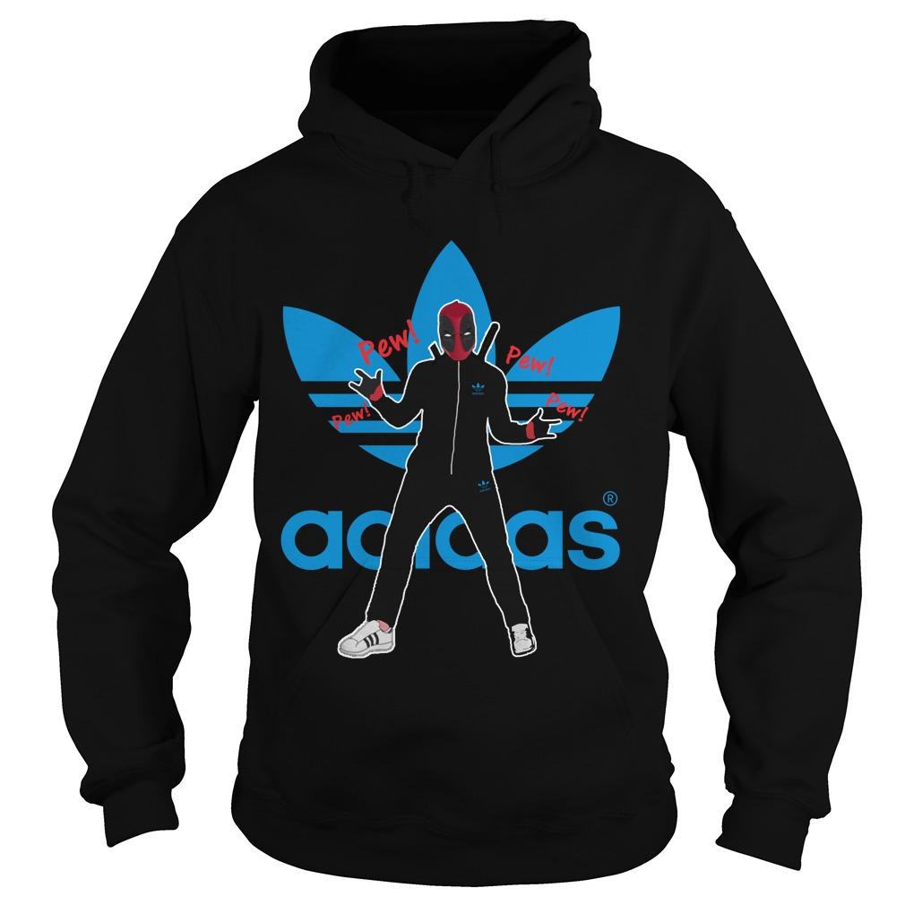 Deadpool pewpew Adidas hoodie