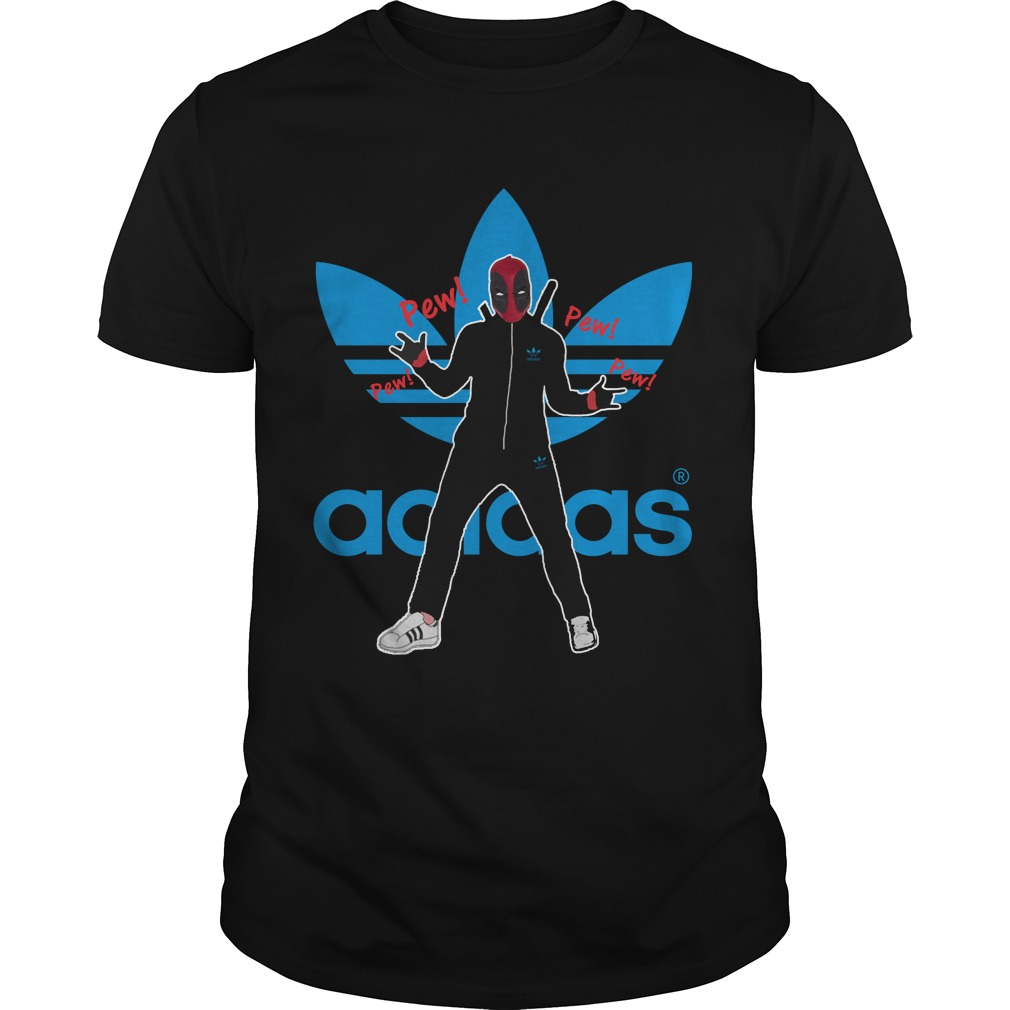 Deadpool pewpew Adidas shirt