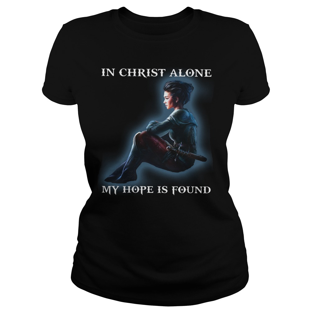 Diana Princess:a in christ alone my hope is found ladies shirt