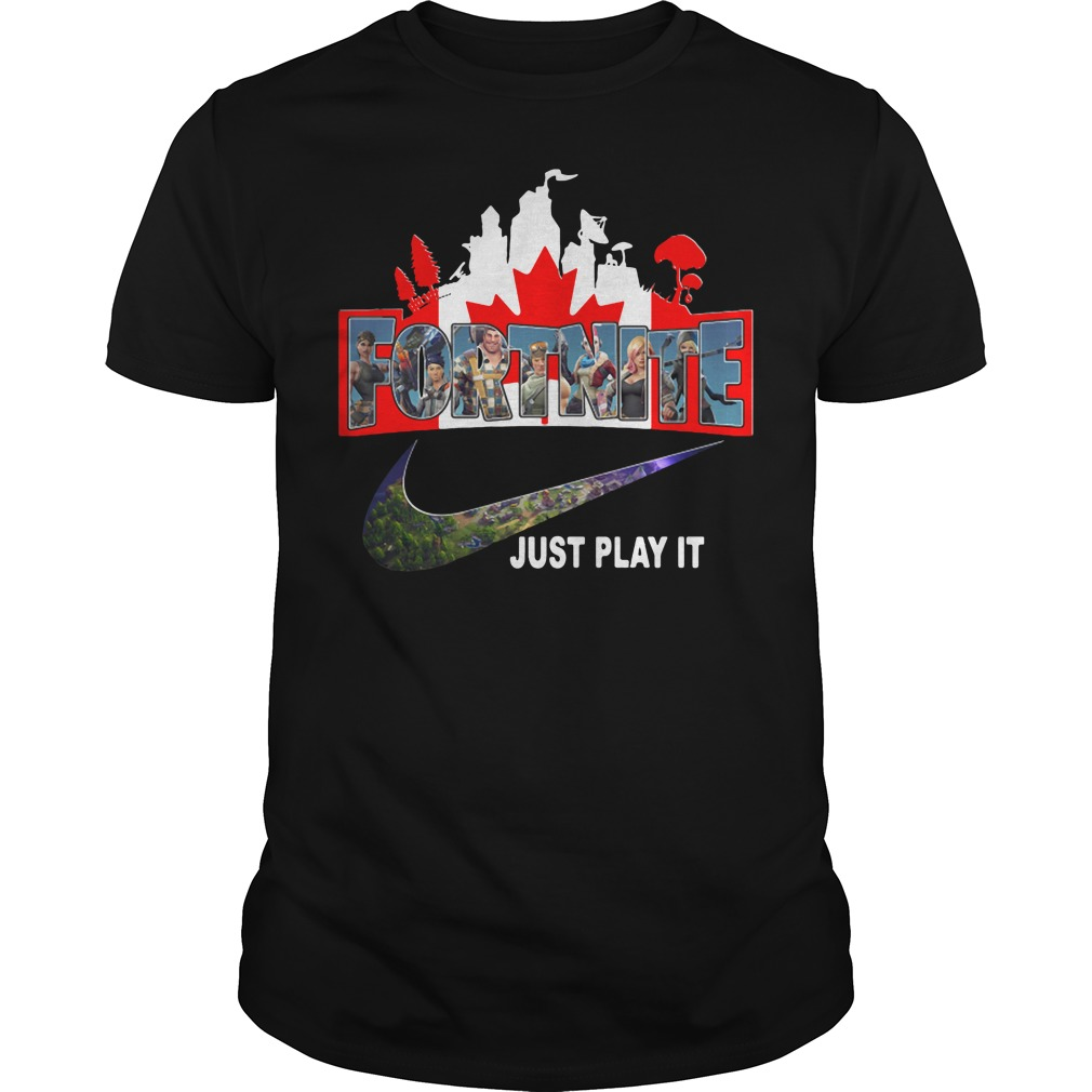Fortnite battle Royale Canada flag nike just play it shirt