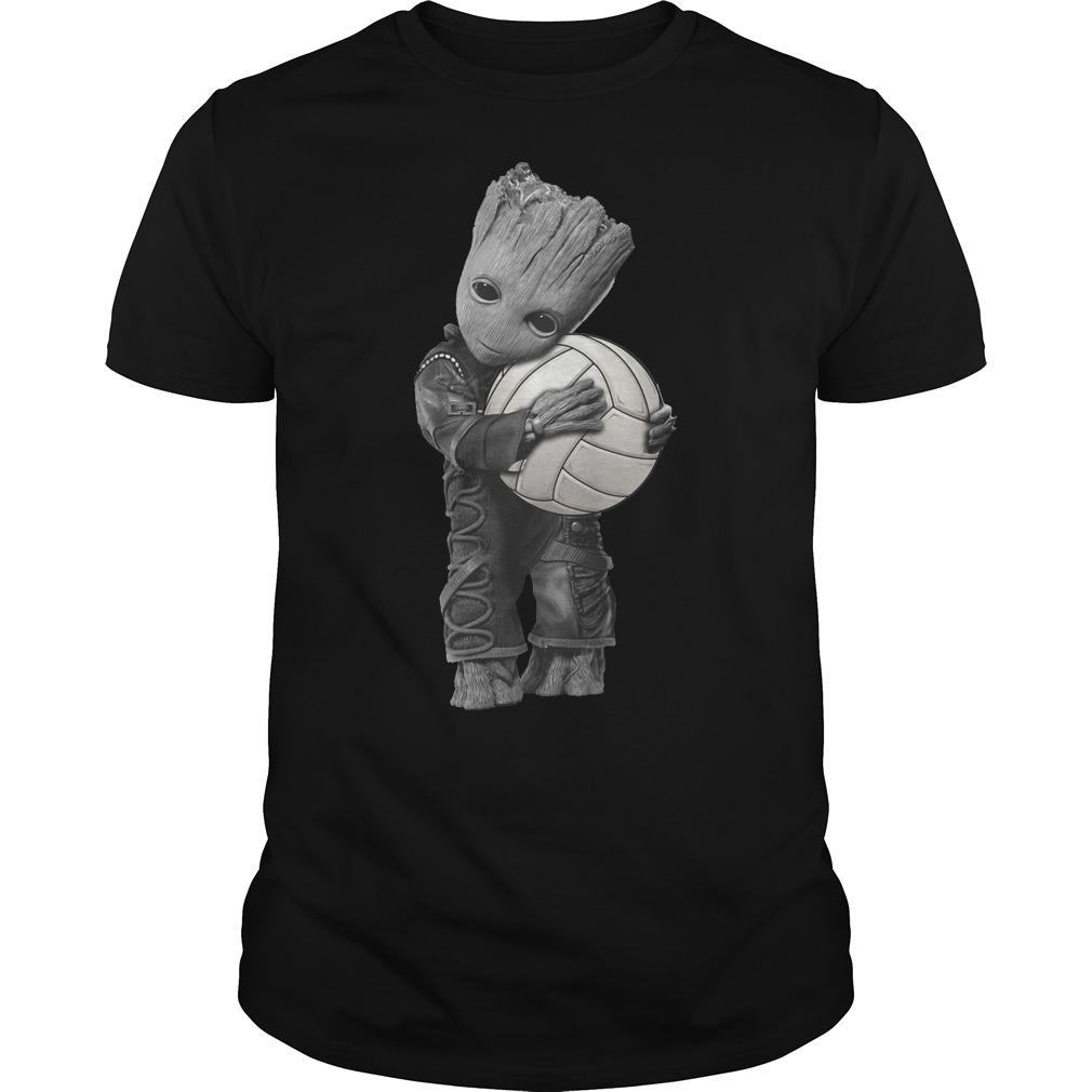Galaxy Guardians Groot hug volleyball shirt