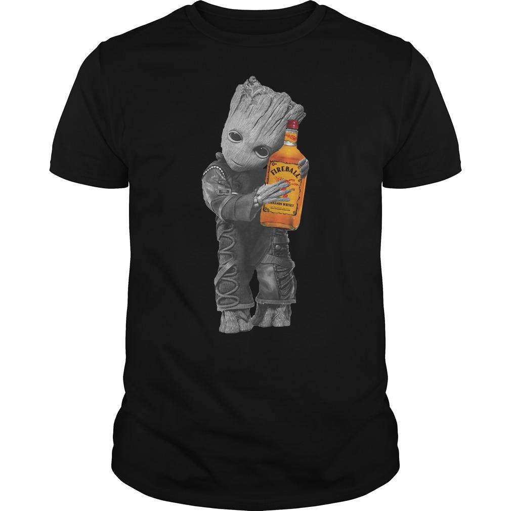 Groot hug Fireball Cinnamon Whisky shirt