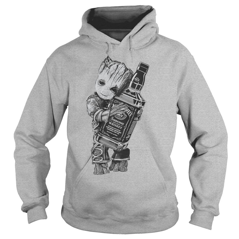 Guardians of the galaxy Groot hug Jack Daniel's hoodie