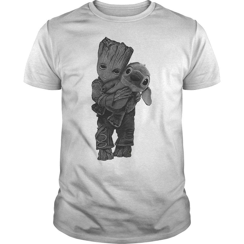 Guardians of the Galaxy Groot hug Stitch shirt
