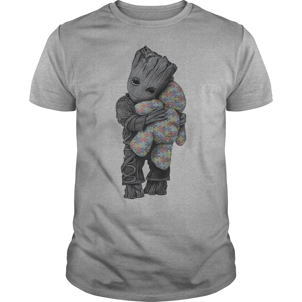 Guardians of the Galaxy Groot hug Teddy bear autism shirt