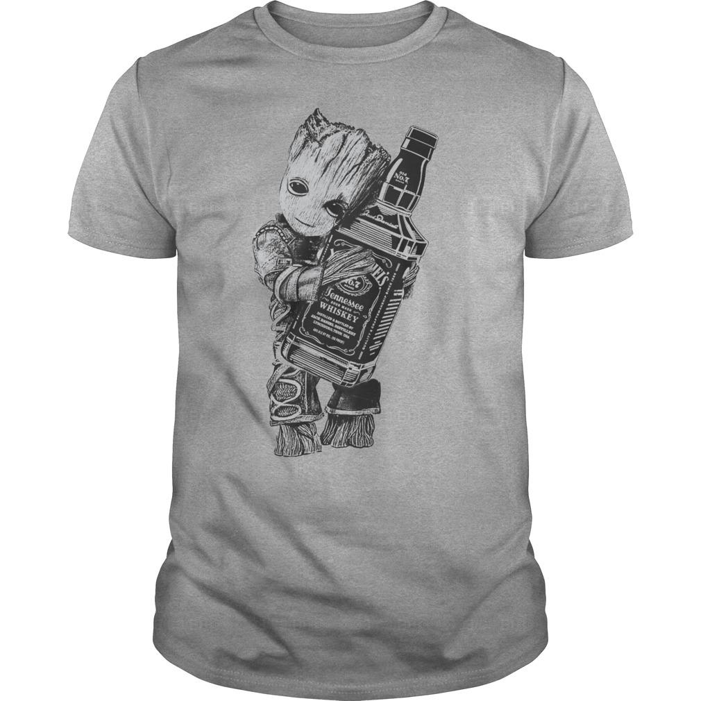 Guardians of the galaxy Groot hug Jack Daniel's shirt