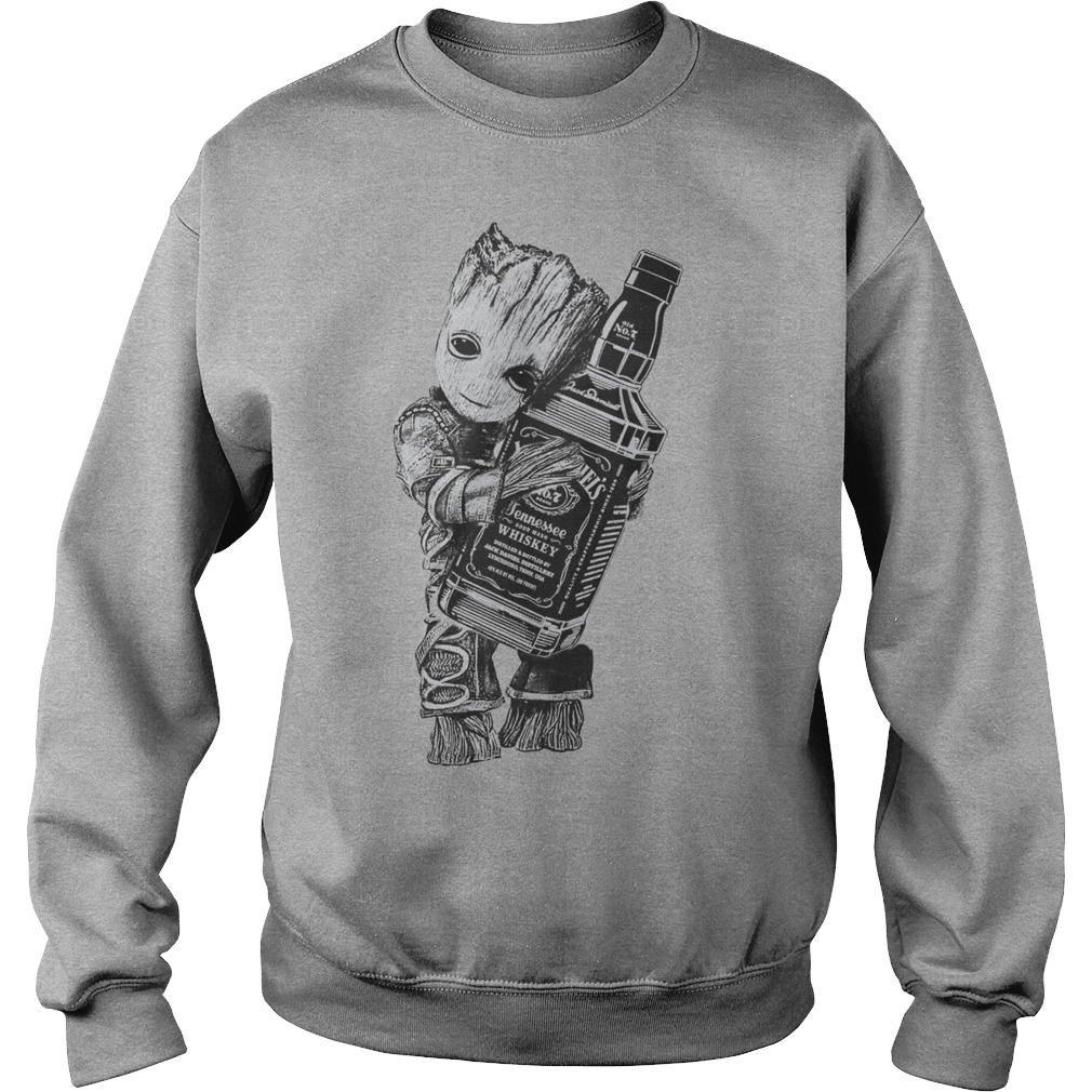 Guardians of the galaxy Groot hug Jack Daniel's sweater