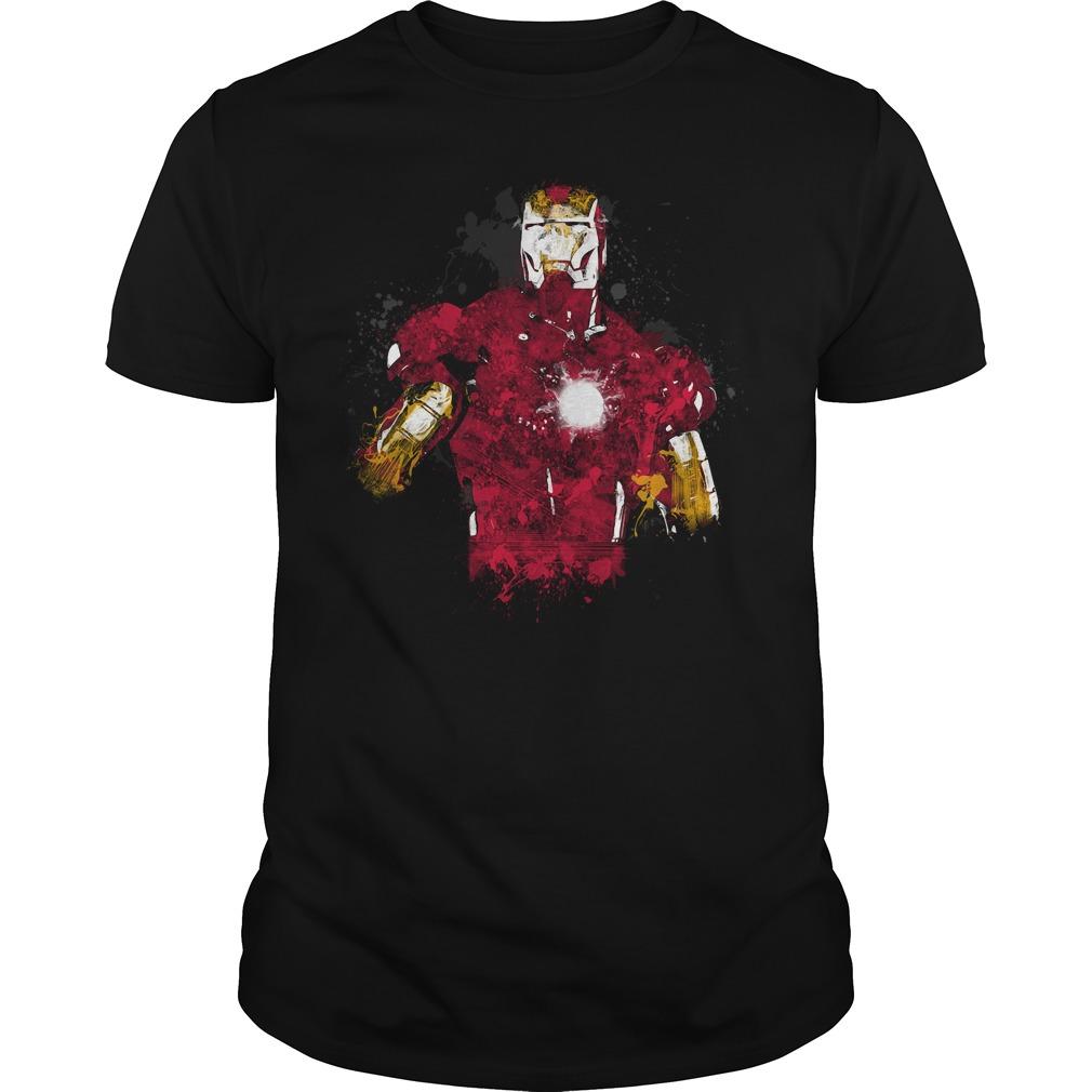 Iron Man art shirt