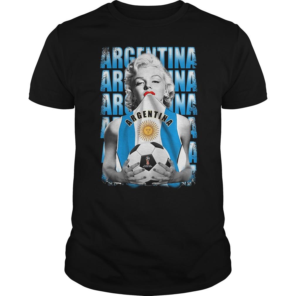 Marilyn Monroe World Cup 2018 Argentina shirt