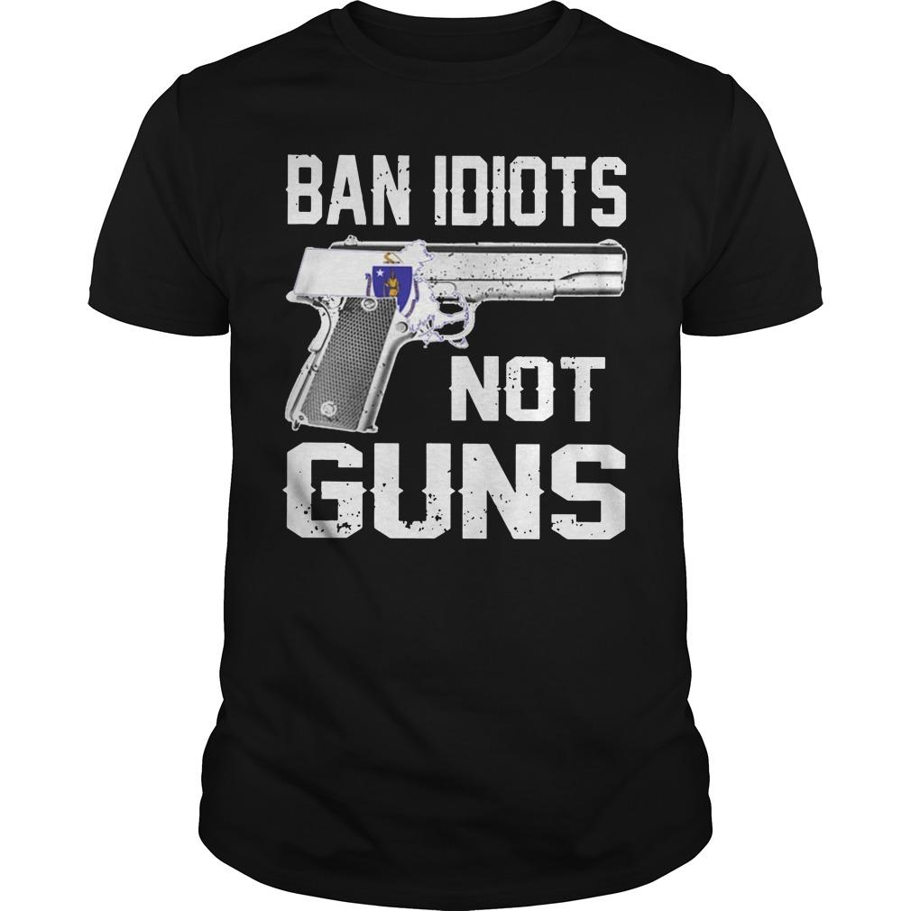 Massachusetts ban idiots not guns k54 shirt