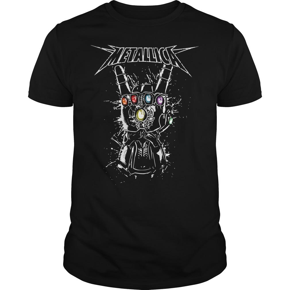 Metallica infinity gauntlet shirt