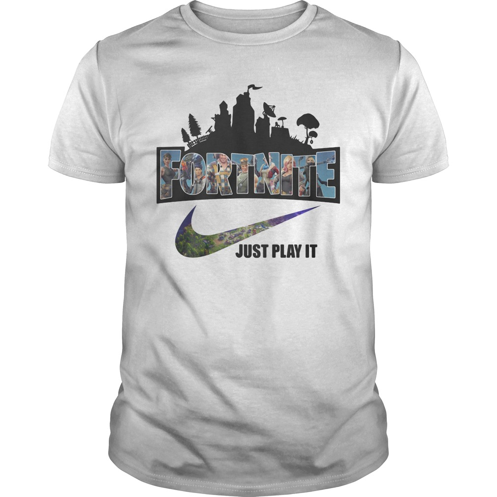 Nike Logo Fortnite just play it shirt