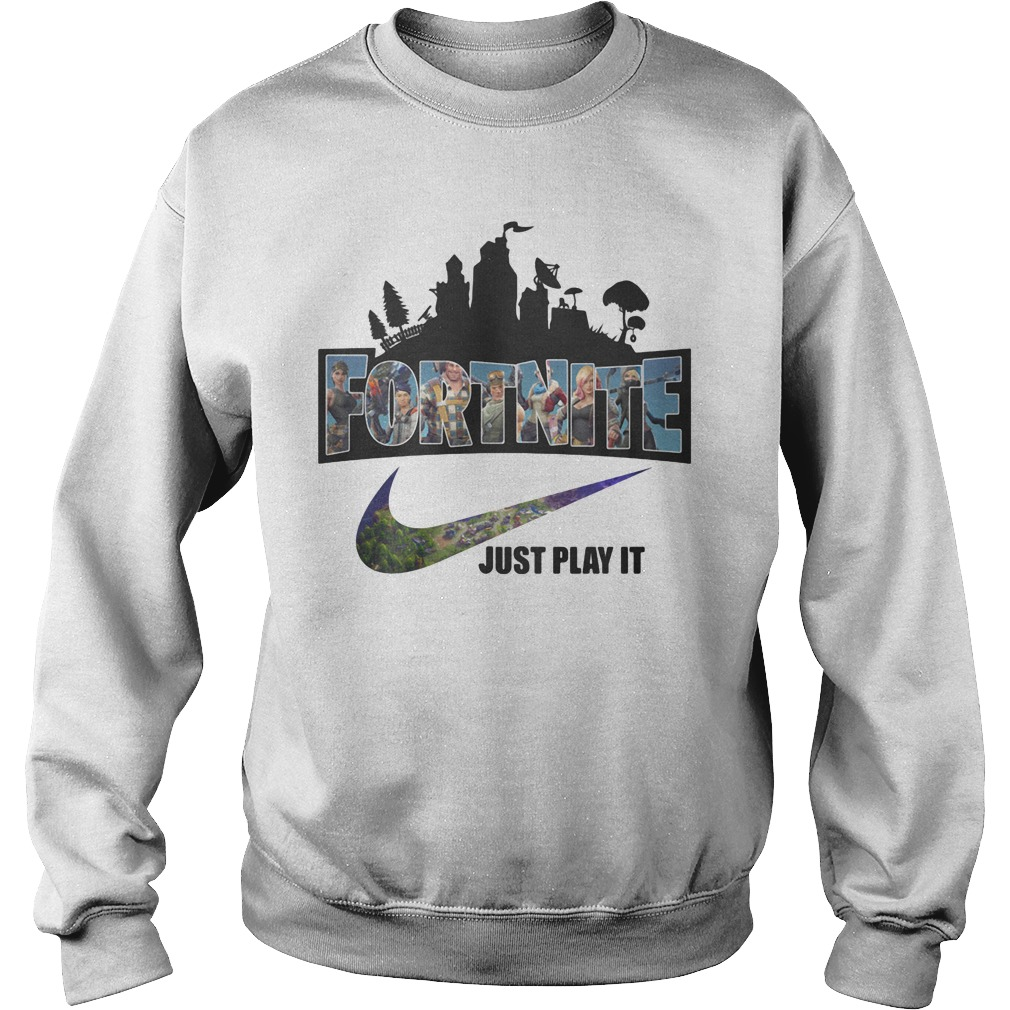 Nike Logo Fortnite just play it sweater