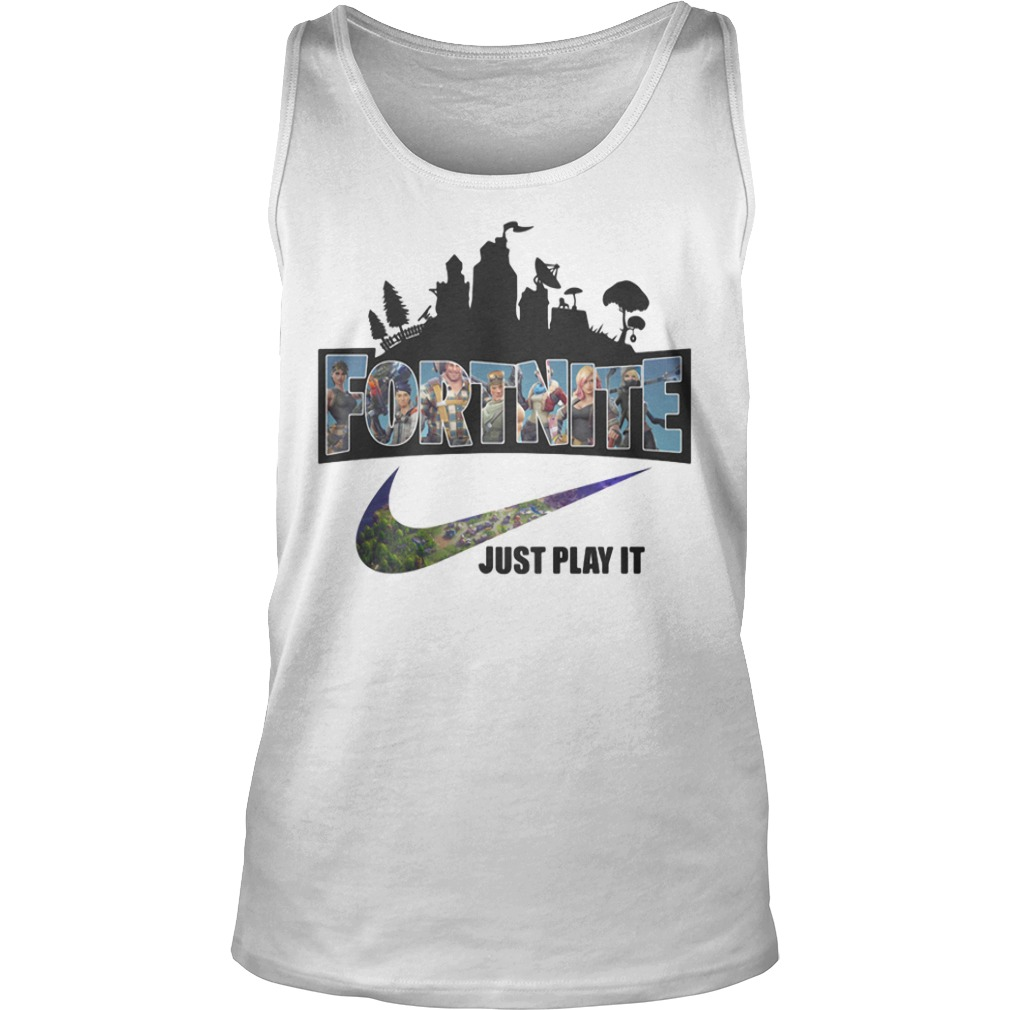 Nike Logo Fortnite just play it tank top