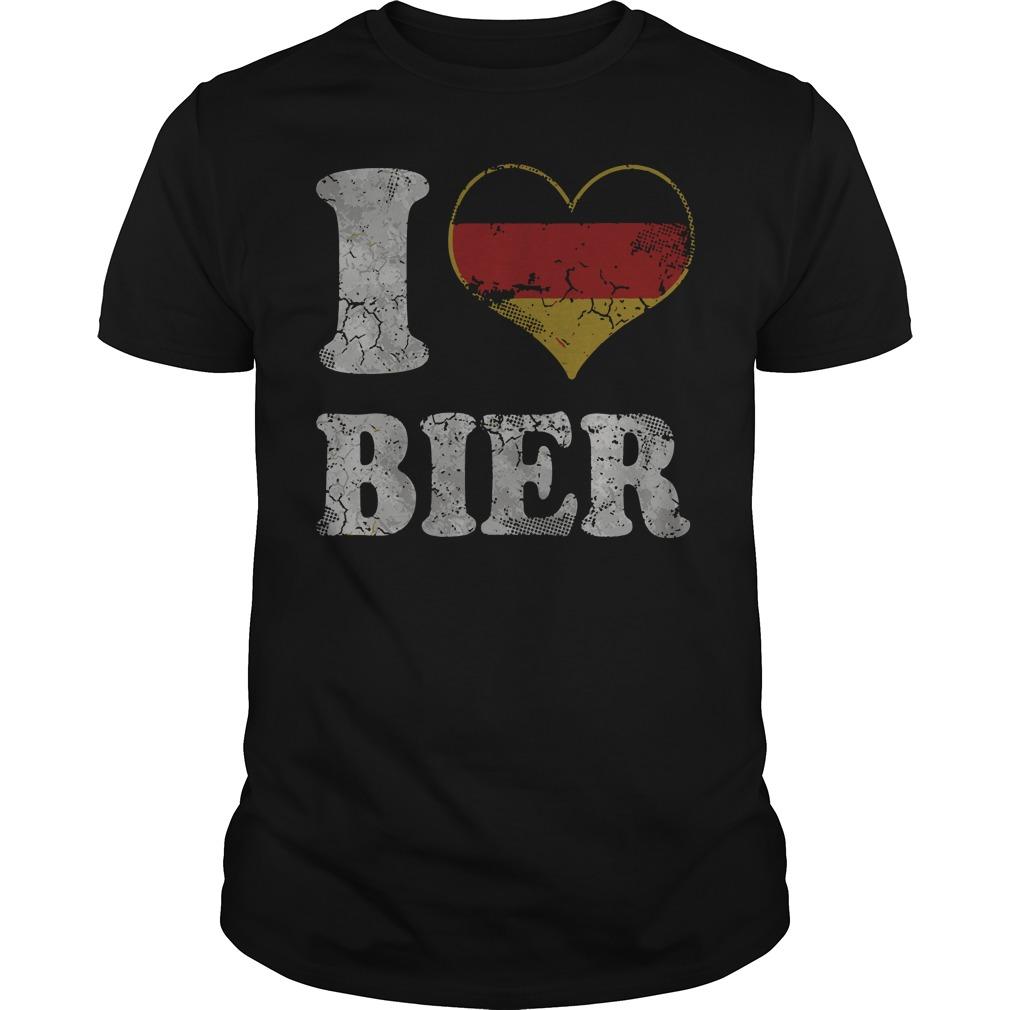 Oktoberfest I Heart German Bier Germany shirt