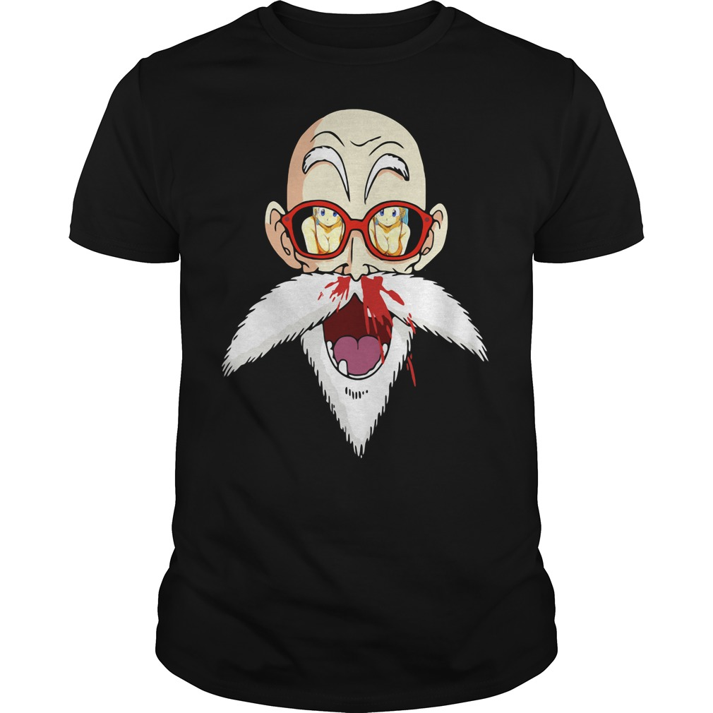 Perverted Master Roshi nose bleeding shirt