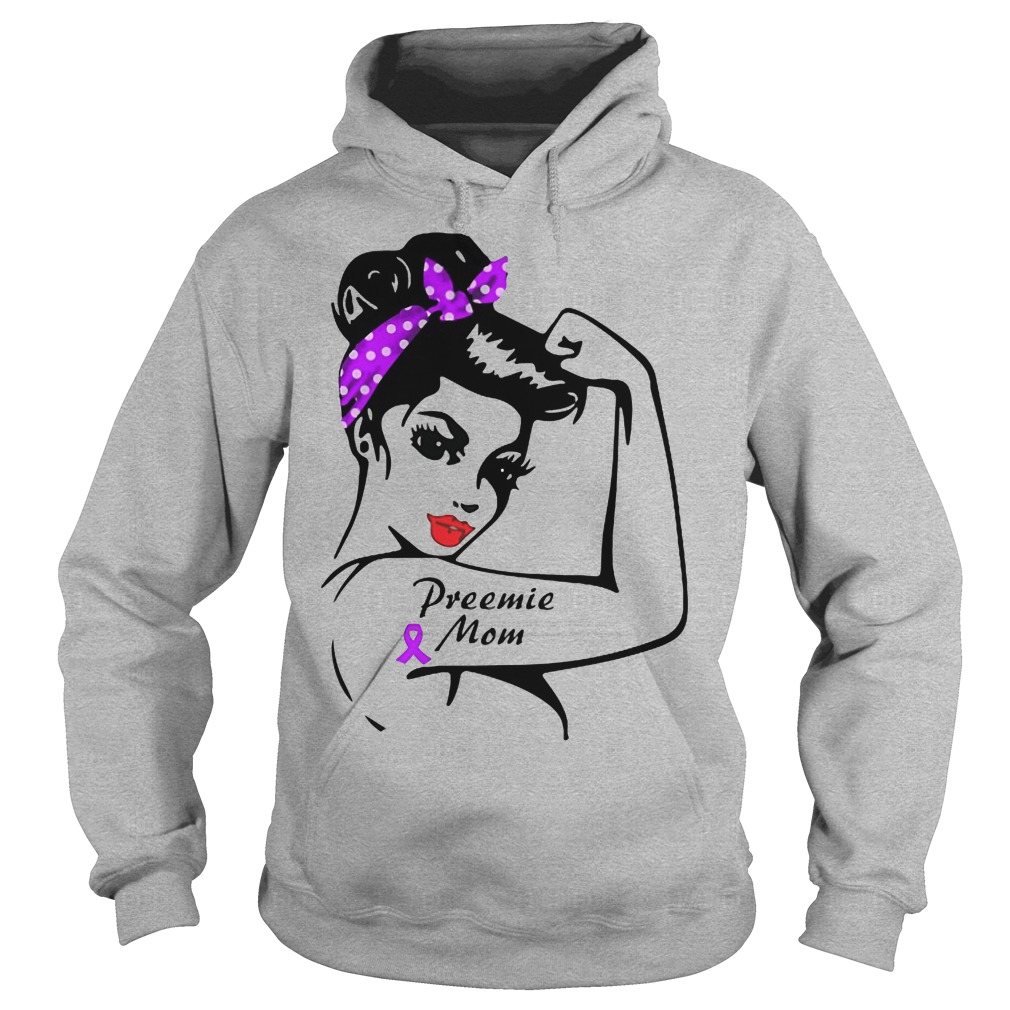Preemie mom bandana cancer hoodie