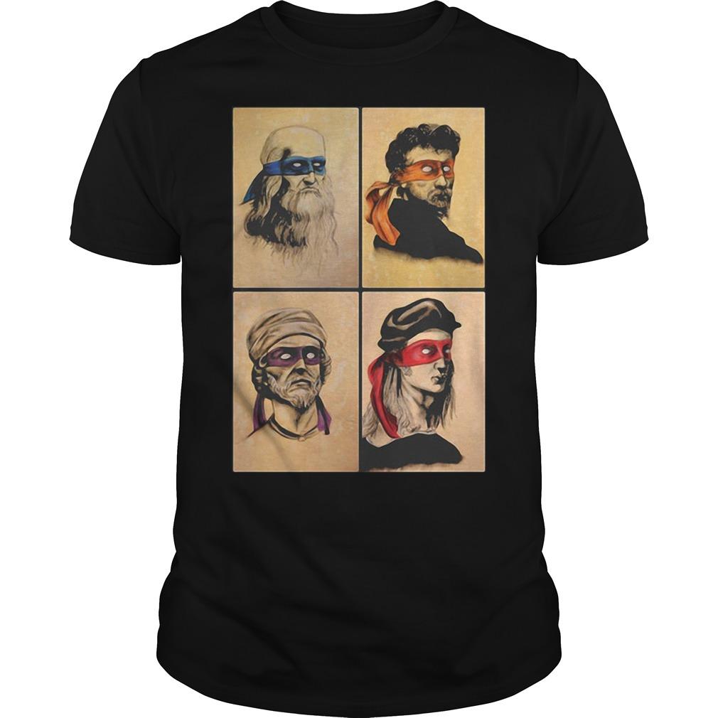 Renaissance Artists Ninja Turtles shirt