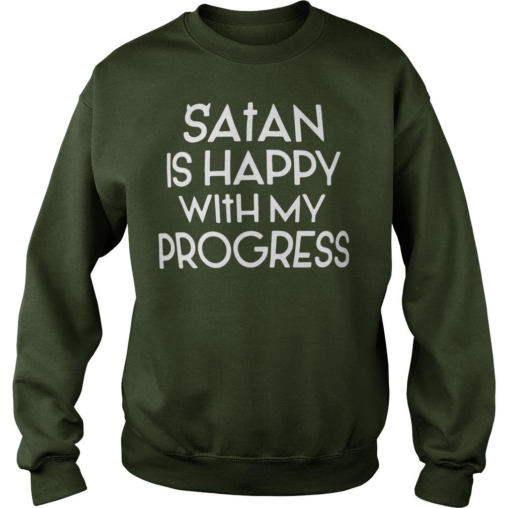Satan is happy with my progress sweater