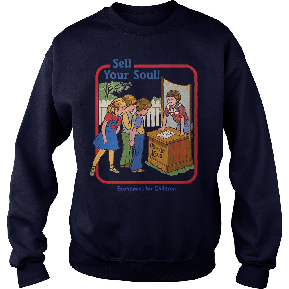 Sell your soul economics for children sweater