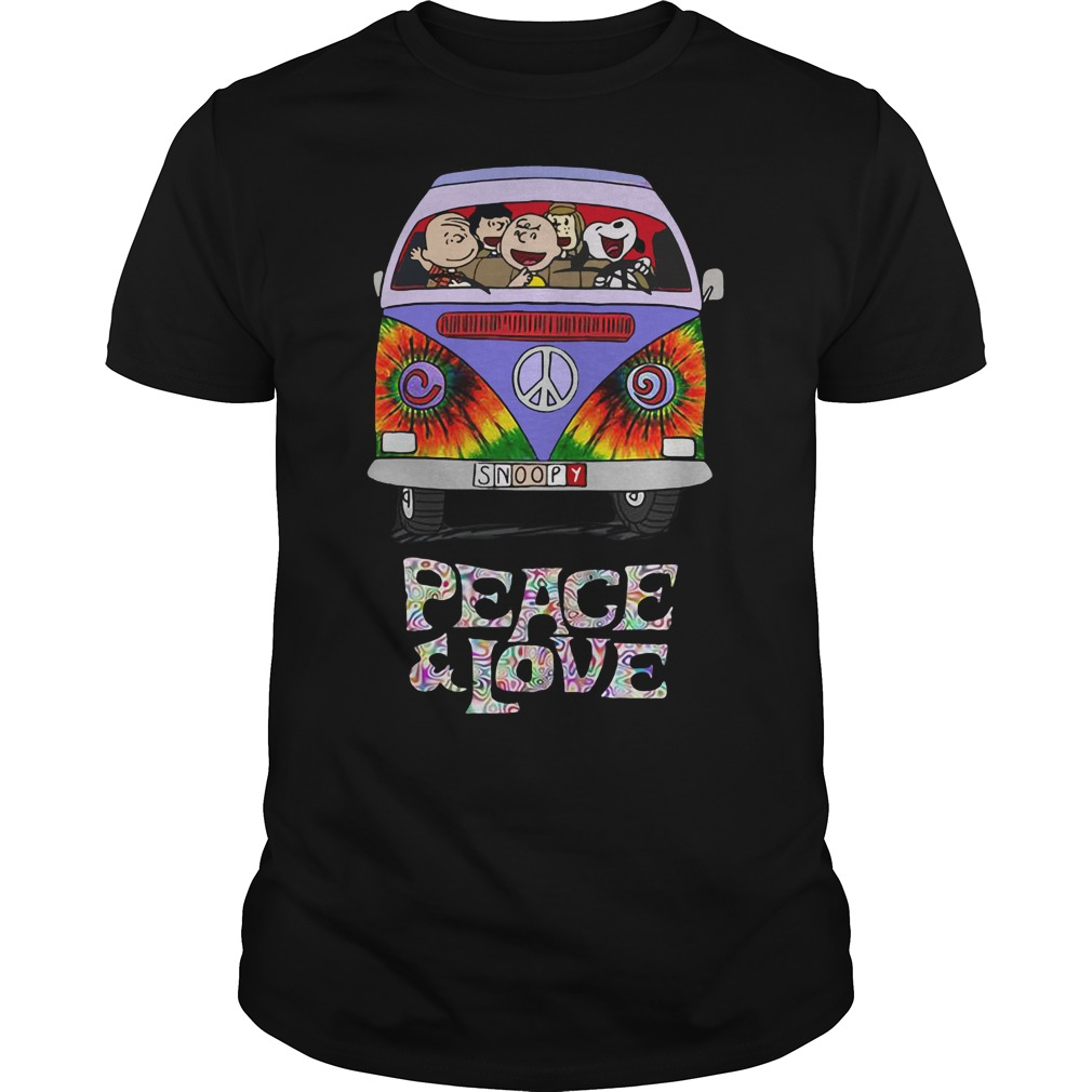 Snoopy Charlie Brown Franklin Peppermint Patty Rerun peace and love shirt