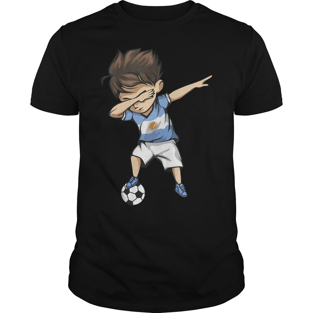Stubasa Dabbing Soccer Argentina shirt