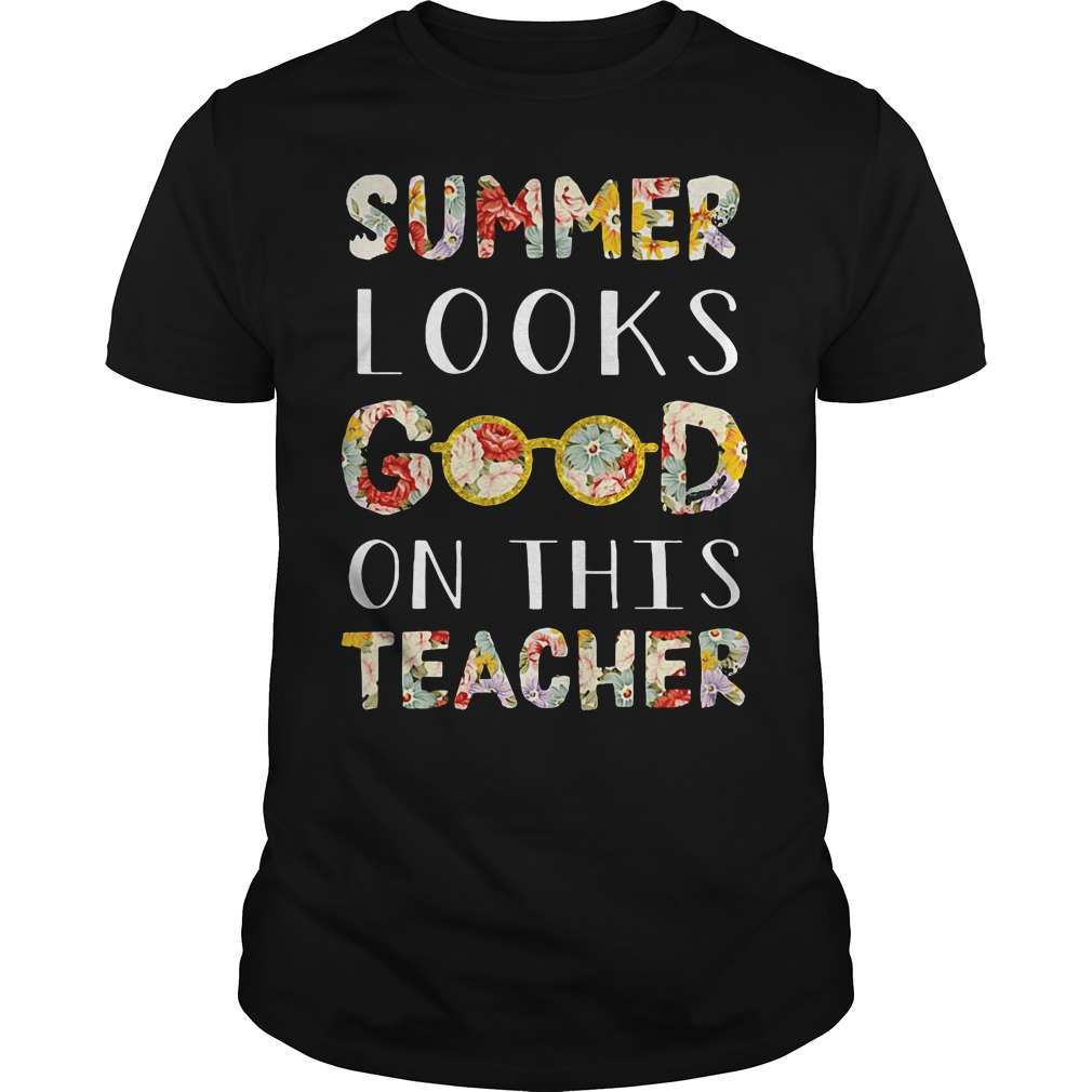 Summer looks good on this teacher floral shirt