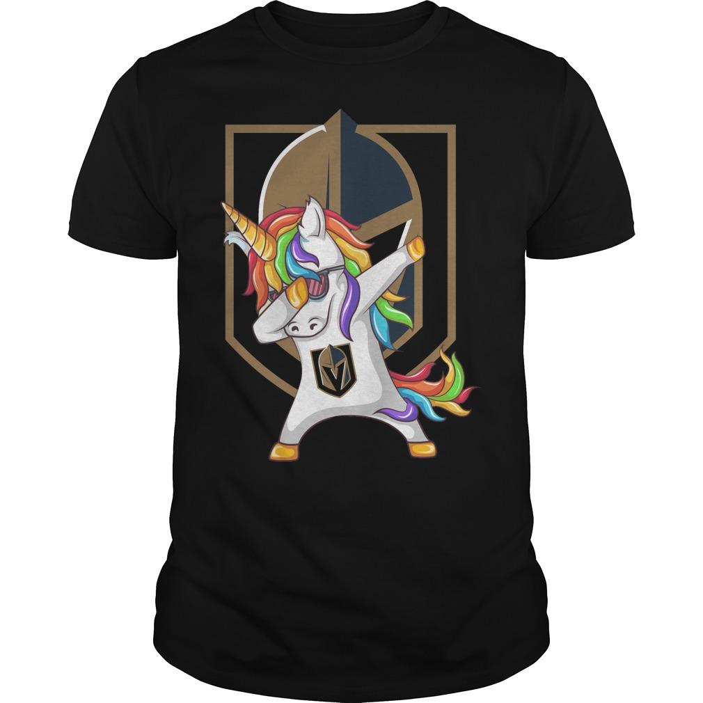 Unicorn dabbing Vegas Golden Knights shirt