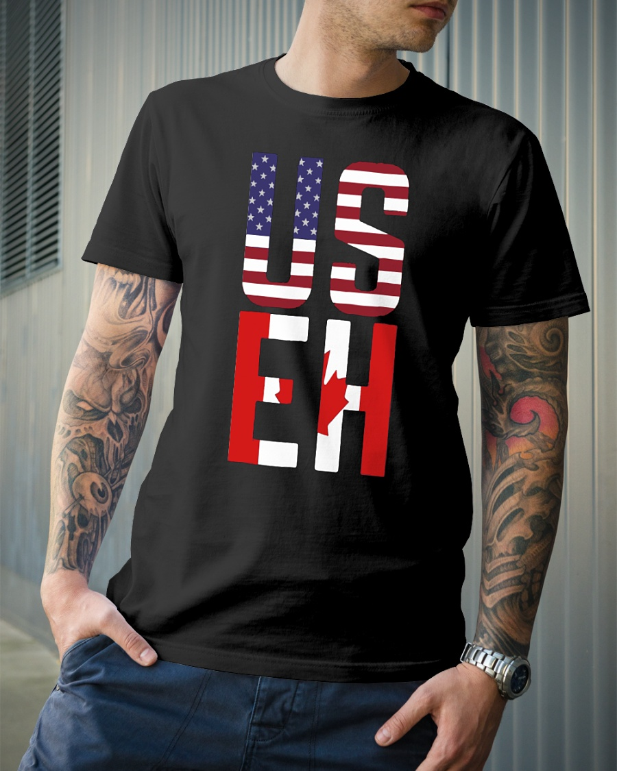American and Canadian flag USEH shirt