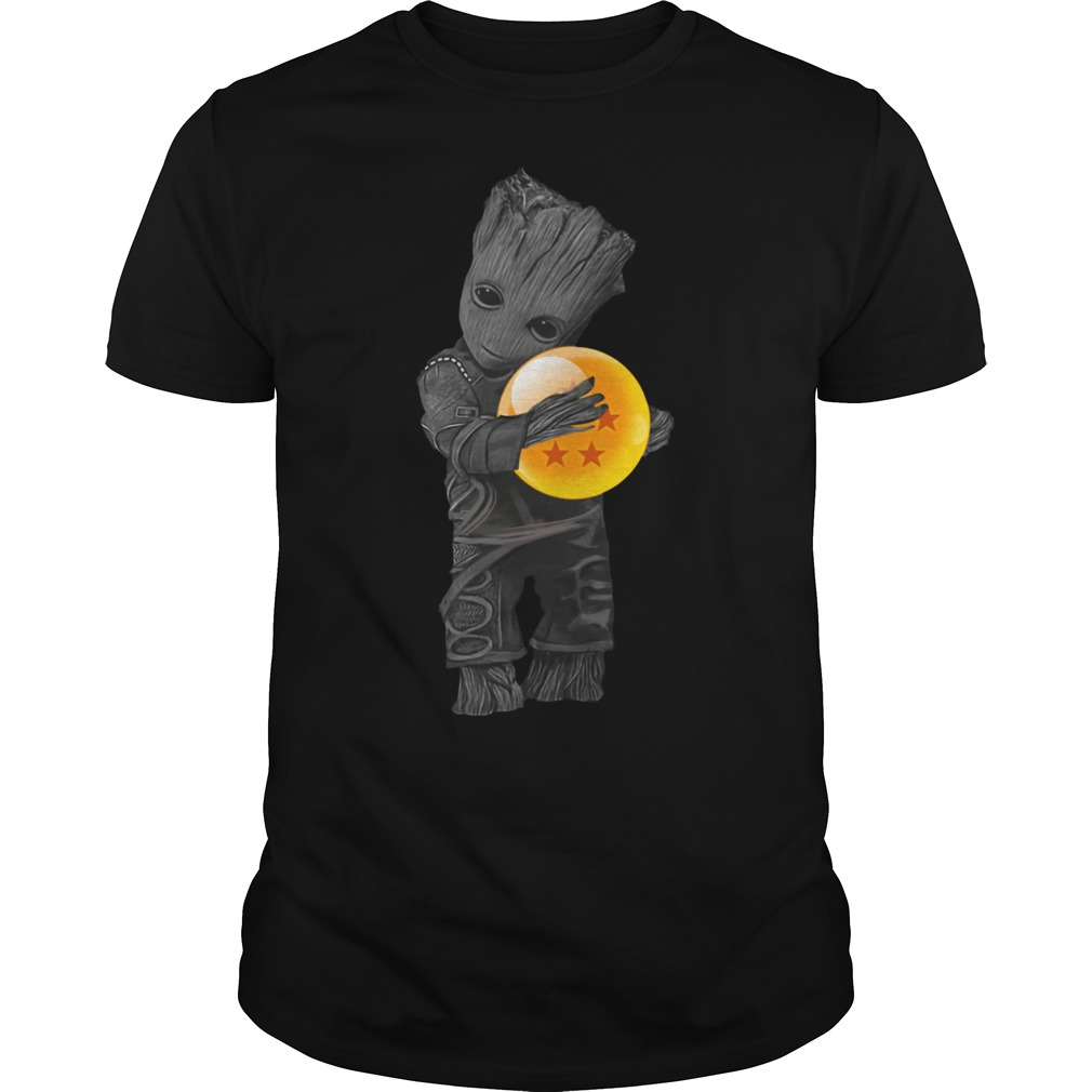 Baby Groot hug Dragon ball shirt